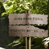 John Muir and Yosemite Valley trail signs