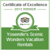 Yosemite Scenic Wonders Certificate of Excellence