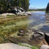 Tuolumne River at lower end of Tuolumne Meadows, Yosemite