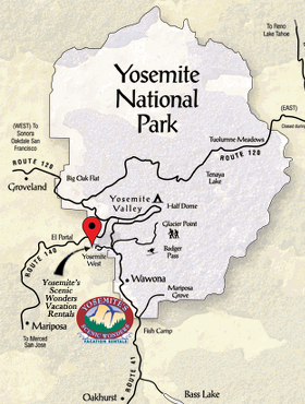 Yosemite Scenic Wonders Map
